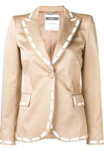 Moschino Blazer Estampado - Neutro