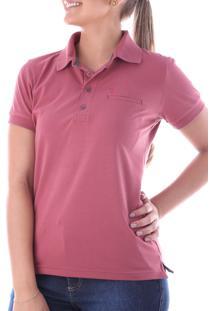 Camisa Polo Cp0722 Rosa Velho Traymon Modelagem Regular