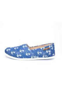 Alpargata Quality Shoes Feminina 001 Jeans Âncora 33