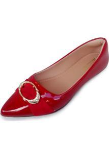 Sapatilha Vitoria Bellodi Fivela Vermelha