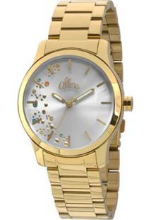 Relógio Feminino Euro Analogico Collection - Unissex-Dourado