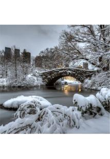 Placa Decorativa Ponte Central Park 25X25 Cm Preto
