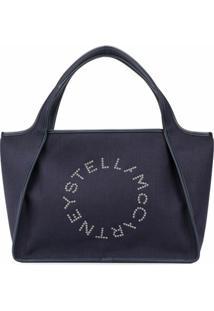 Stella Mccartney Bolsa Tote Com Padronagem E Logo - Azul