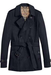 Burberry The Chelsea – Short Trench Coat - Preto