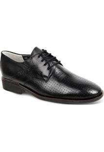 Sapato Social Couro Sandro & Co. Derby Masculino - Masculino-Preto