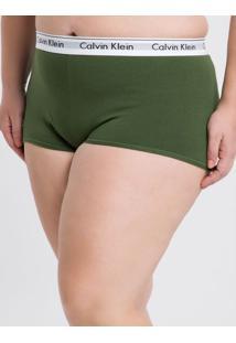 Short Modern Cotton Plus Size - Verde Militar - 1Xl