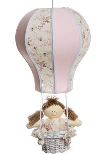 Lustre Balão Cintura Potinho De Mel Rosa