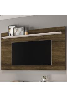 Painel Para Tv Até 70 Polegadas Enseada Canela Rustico/Off White - Colibri Móveis