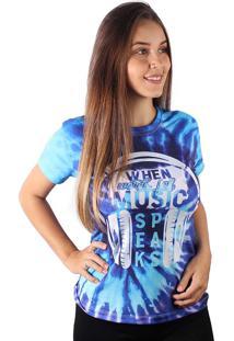 Camiseta Baby Look Speaks Music Tie Dye Md05