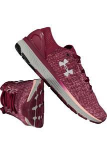 0dddc8ebd5b Fut Fanatics. Tênis Under Armour Charged Bandit 3 Feminino Vinho
