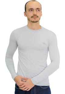 Camiseta Mprotect Térmica Manga Longa Cinza