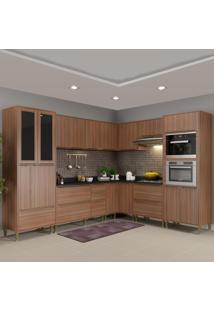Cozinha Completa 19 Portas 4 Gavetas 5461Mf680 Nogueira/Malt - Multimóveis