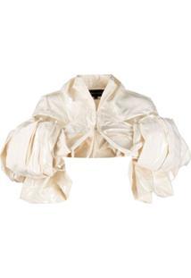 Comme Des Garçons Cropped Coated Cotton Jacket - Neutro