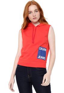 Colete Calvin Klein Jeans Logo Vermelha