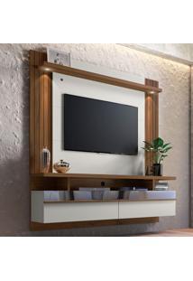 Painel Para Tv Até 60 Polegadas Luvi Off White E Nogueira