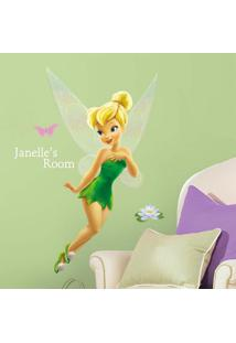 Adesivos De Parade Roommates Colorido Tinker Bell Giant Wall Decal With Alphabet - Branco - Dafiti