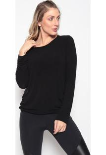 Blusa Com Amarraã§Ã£O E Recorte- Pretabody For Sure