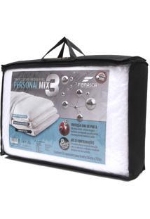 Travesseiro Fibrasca Personal Mix 3 Branco - Branco - Dafiti