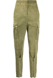 Pinko Tapered-Leg Cargo Trousers - Verde
