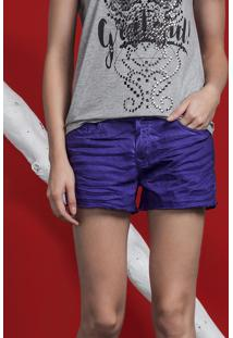 Shorts Sarja Color Hawaii Violeta Ultra - Lez A Lez