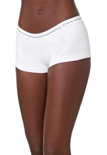 Calcinha Lupo Boxer Loba Logo Branca