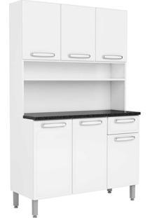 Cozinha Compacta Cecil 6 Pt 1 Gv Branca