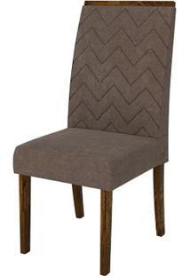 Cadeira Áurea 2 Peças - Rústico Malbec Com Pena Marrom