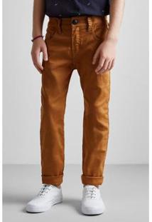 Calça Mini Pf Skinny Color Ver19 Reserva Mini - Masculino-Bege