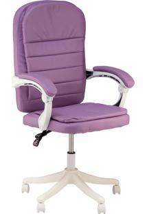 Cadeira Escritã³Rio Prisma Base Branca Diretor - Lilã¡S - Feminino - Dafiti