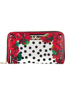 Dolce & Gabbana Carteira Com Estampa Floral - Vermelho