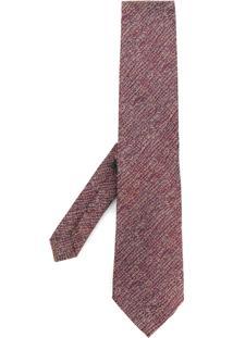 Etro Gravata De Tricô Listrada - Pink & Purple