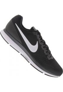 Tênis Nike Air Zoom Pegasus 34 - Masculino - Preto/Branco
