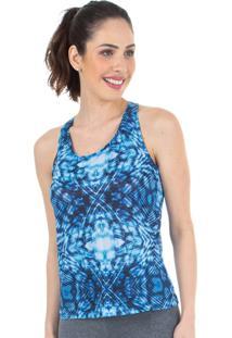 Regata Estampa Gráfica Azul - 524.822 Marcyn Active Camisetas Fitness Multicolorido