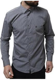 Camisa Manga Longa Masculina Elétron - Masculino-Cinza