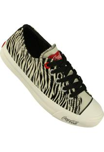 Tênis Coca-Cola Shoes Basket Low Tag - Feminino-Preto
