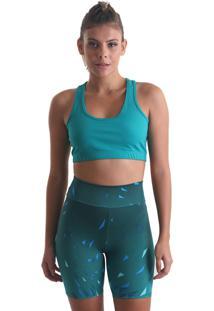 Shorts Curto Geometric - Verde - Praaiah - Verde - Feminino - Dafiti