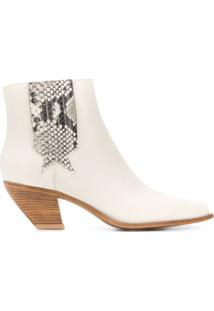 Golden Goose Angular Cuban-Heel Ankle Boots - Neutro