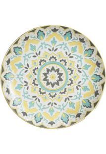Prato De Sobremesa Em Porcelana L'Hermitage Morlac 22,5Cm