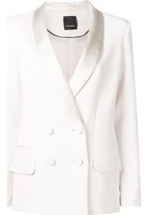 Pinko Blazer Transpassado - Branco
