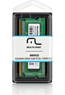 Módulo De Memória Multilaser Sodimm Ddr3 4Gb Pc3L12800 Mm420