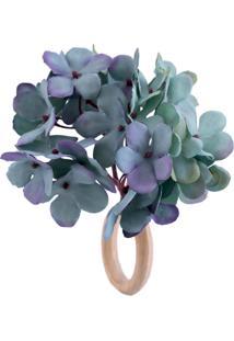 Porta Guardanapo Lola Home Hortênsia Azul - Kanui