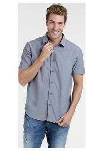 Camisa Masculina Manga Curta Marisa