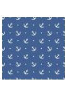 Papel De Parede Adesivo Ancora Azul 272189048 Rolo 0,58X3M