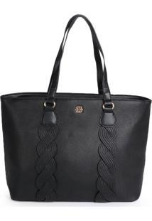 Bolsa Shopping Bag Ana Hickmann Trança