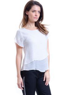 Blusa 101 Resort Wear Viscose Duplo Off White