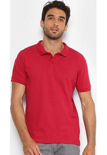 Camisa Polo Rg 518 Clássica Bordado Masculina - Masculino-Vermelho Escuro