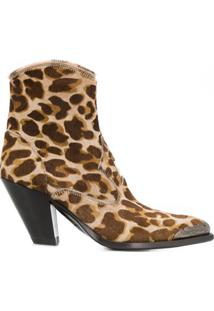 Golden Goose Bota Animal Print - Marrom