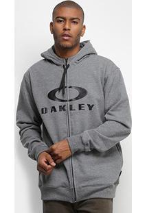 Jaqueta Oakley Bark Masculina - Masculino-Cinza