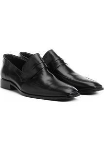 Sapato Social Couro Shoestock Liso Bico Quadrado