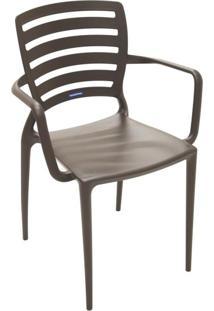 Cadeira Sofia Vazada Hz Marrom